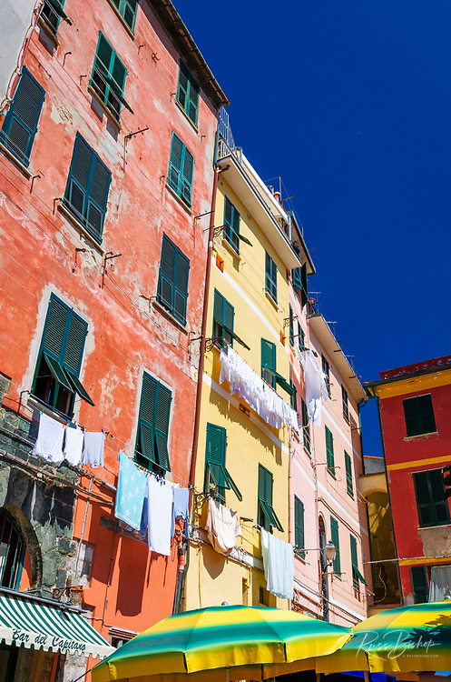 Houses and walkway, Vernazza, Cinque Terre, Liguria, Italy