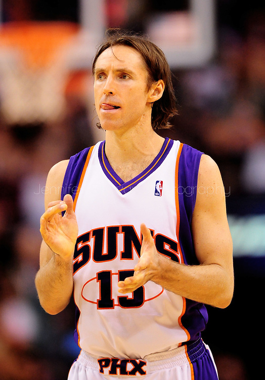 Mar. 14 2010; Phoenix, AZ, USA; Phoenix Suns guard Steve Nash (13) in the first half at the US Airways Center. Mandatory Credit: Jennifer Stewart-US PRESSWIRE.