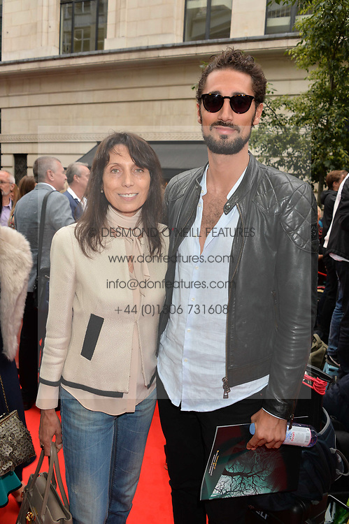 Hugo Taylor and his mother Natasha Taylor arriving at The opening night of Wind in The Willows at the London Palladium, Argyll Street, London England. 29 June 2017.<br /> Photo by Dominic O'Neill/SilverHub 0203 174 1069 sales@silverhubmedia.com