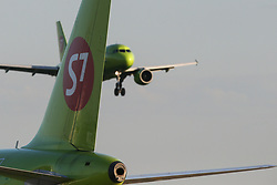 May 27, 2017 - Civil jet airplanes of S7 Airlines at Domodedovo airport, Moscow Region, Russia  (Credit Image: © Russian Look via ZUMA Wire)