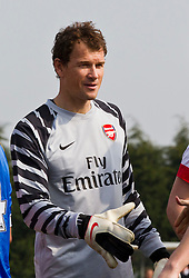 WIGAN, ENGLAND - Tuesday, March 29, 2011: Arsenal's goalkeeper Jens Lehmann before the FA Premiership Reserves League (Northern Division) match against Wigan Athletic at Robin Park. (Photo by Vegard Grott/Propaganda)