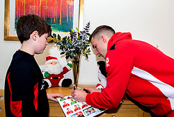 Joe Bryan of Bristol City signs autographs during Bristol City's visit to the Children's Hospice South West at Charlton Farm - Mandatory by-line: Robbie Stephenson/JMP - 21/12/2016 - FOOTBALL - Children's Hospice South West - Bristol , England - Bristol City Children's Hospice Visit