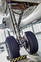 Photo of airplane wheels in airport