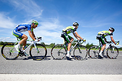 MARANGONI Alan of Liquigas and MEYER Travis, LANCASTER Breet of Orica-Green Edge during 1st Stage (164 km) at 19th Tour de Slovenie 2012, on June 14, 2012, in Novo Mesto, Slovenia. (Photo by Matic Klansek Velej / Sportida)