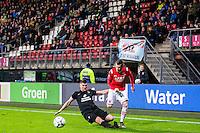 ALKMAAR - 02-02-2016, AZ - HHC, AFAS Stadion, HHC speler Jan Hooiveld, AZ speler Rajko Brezancic