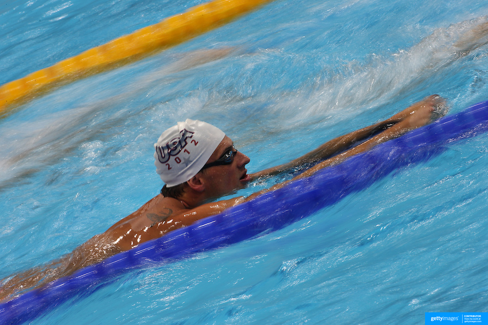 Ryan Lochte, USA, training  at the Aquatic Centre at Olympic Park, Stratford during the London 2012 Olympic games preparation at the London Olympics. London, UK. 25th July 2012. Photo Tim Clayton