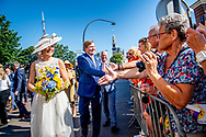 28-6-2018 HOORN -King Willem-Alexander and Queen Maxima visit Arrival at Oostereiland, Hoorn during a regional visit to West Friesland. ROBIN UTRECHT