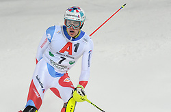 """29.01.2019, Planai, Schladming, AUT, FIS Weltcup Ski Alpin, Slalom, Herren, 2. Lauf, im Bild Daniel Yule (SUI, dritter Platz) // reacts after his 2nd run of men's Slalom """"the Nightrace"""" of FIS ski alpine world cup at the Planai in Schladming, Austria on 2019/01/29. EXPA Pictures © 2019, PhotoCredit: EXPA/ Erich Spiess"""