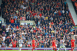 WEST BROMWICH, ENGLAND - Sunday, May 15, 2016: Liverpool supporters during the final Premier League match of the season against West Bromwich Albion at the Hawthorns. (Pic by David Rawcliffe/Propaganda)