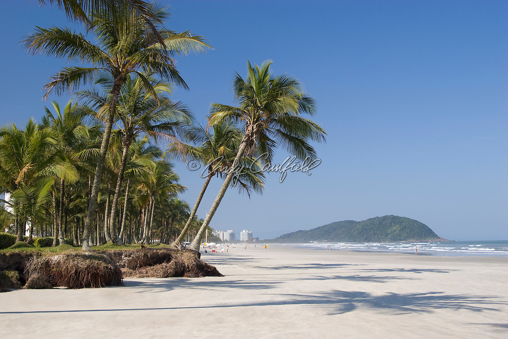 Sao Lourenco beach, Riviera de Sao Lourenco, Bertioga, SP, Brazil.