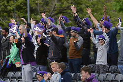 Fans cheer as Gloucestershire win by 7 wickets with an over to spare - Photo mandatory by-line: Dougie Allward/JMP - Mobile: 07966 386802 - 15/05/2015 - SPORT - Cricket - Bristol - Bristol County Ground - Gloucestershire County Cricket v Middlesex County Cricket - NatWest T20 Blast
