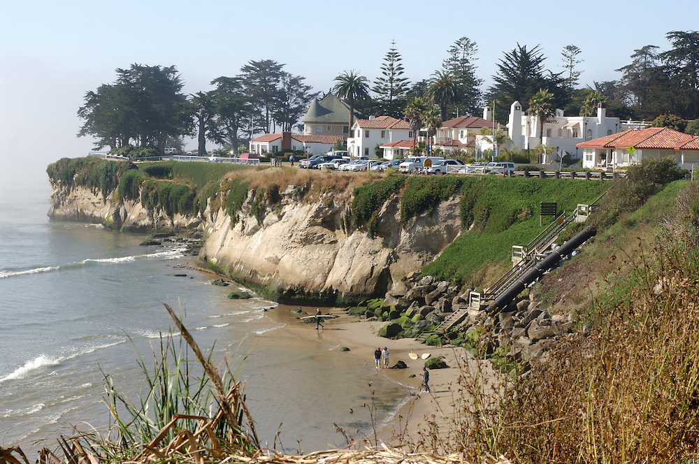 Houses on coast, Santa Cruz, California, United States of America