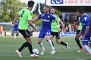 Forest Green Rovers Lloyd James (4) on the attack during the Pre-Season Friendly match between Forest Green Rovers and Leeds United at the New Lawn, Forest Green, United Kingdom on 17 July 2018. Picture by Alan Franklin.