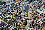 Nederland, Friesland, Gemeente De Friese Meren, 10-10-2014; Joure, stadsgracht Het Zand.<br /> Town centre with historical canal.<br /> luchtfoto (toeslag op standard tarieven);<br /> aerial photo (additional fee required);<br /> copyright foto/photo Siebe Swart