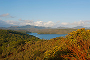 Overlook over the south coast of Grande Terre, New Caledonia, Melanesia, South Pacific