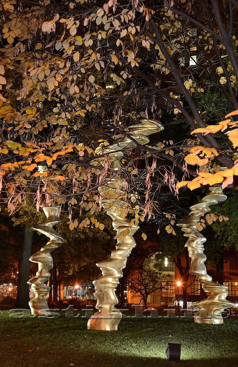 Fall and Monumental Bronze Sculptures,