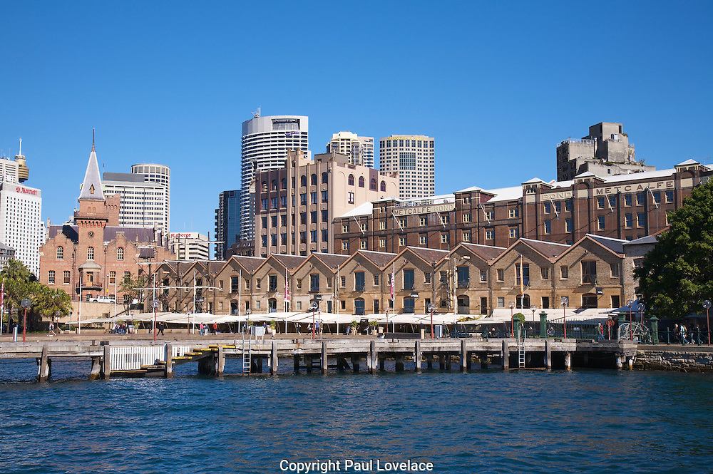 A view of some of the waterfront restaurants at The Rocks, Sydney, Australia.www.paulovelacephotography.com