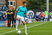 Forest Green Rovers Lloyd James(4) on the ball during the EFL Sky Bet League 2 match between Bury and Forest Green Rovers at the JD Stadium, Bury, England on 18 August 2018.