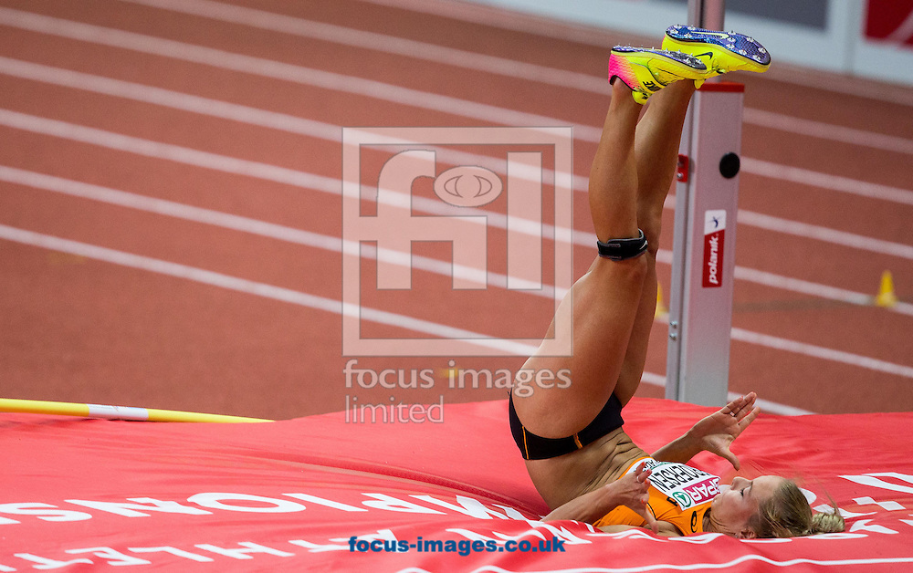 Nadine Broersen of Netherlands competes in the Pentathlon High Jump Women on day one of the 34th European Indoor Athletics Championships Belgrade 2017 at the Kombank Arena, Belgrade<br /> Picture by EXPA Pictures/Focus Images Ltd 07814482222<br /> 03/03/2017<br /> *** UK &amp; IRELAND ONLY ***<br /> <br /> EXPA-SLO-170303-0023.jpg