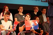 Mannheim. 19.09.17 | SPD-Kanzlerkandidat Martin Schulz im Capitol Mannheim.<br /> Im Wahlkampf zur Bundestagswahl unterstützt Kanzlerkandidat Martin Schulz Mannheims SPD Bundestagsabgeordneter Stefan Rebmann.<br /> <br /> <br /> BILD- ID 2391 |<br /> Bild: Markus Prosswitz 19SEP17 / masterpress (Bild ist honorarpflichtig - No Model Release!)