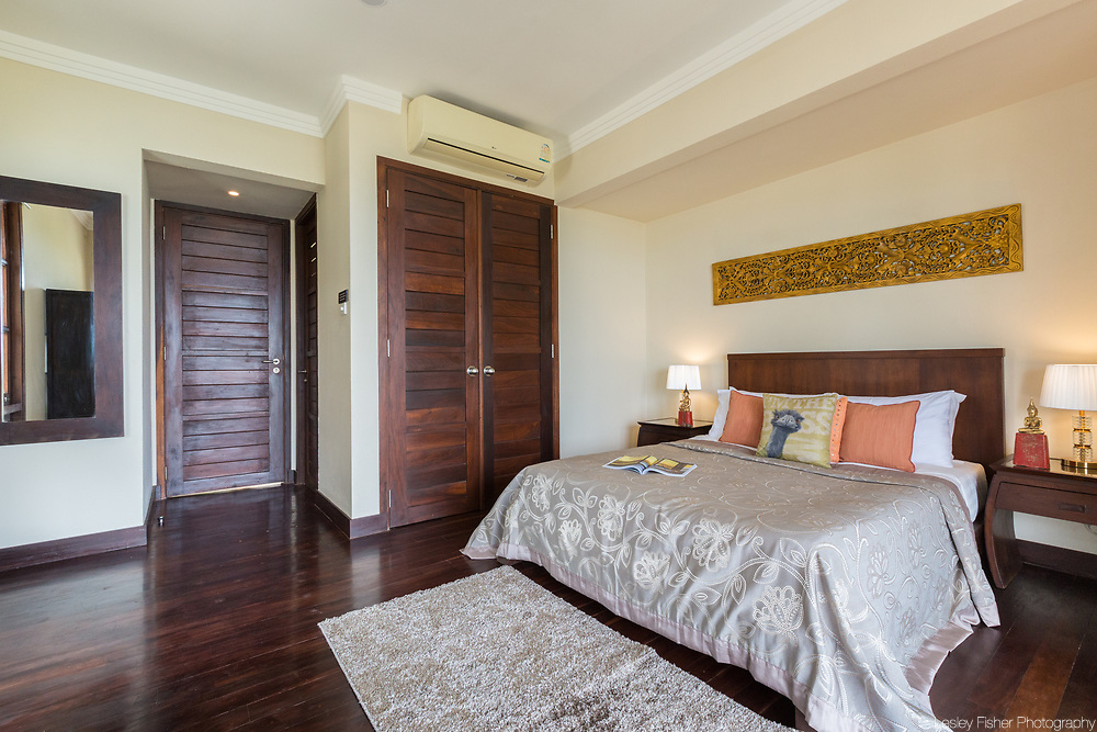 Bedroom at Villa 29, a 3 bedroom private and luxury ocean viw villa located in Kanda Resort, a private villa estate located between Cheong Mon and North Chaweng