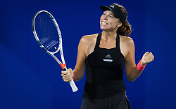 September 26, 2018 - Anett Kontaveit of Estonia in action during her third-round match at the 2018 Dongfeng Motor Wuhan Open WTA Premier 5 tennis tournament (Credit Image: © AFP7 via ZUMA Wire)