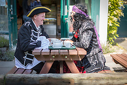 © Licensed to London News Pictures. 06/09/2015. Wells next the Sea , North Norfolk , UK.<br /> Sunny weather at The Wells next the sea Pirate Festival , Wells next the Sea , North Norfolk. <br /> Photo credit : Chris Bull/LNP