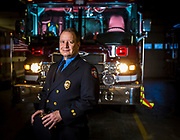 Retiring firefighter Steve Dahlgren. (Photo © Andy Manis)