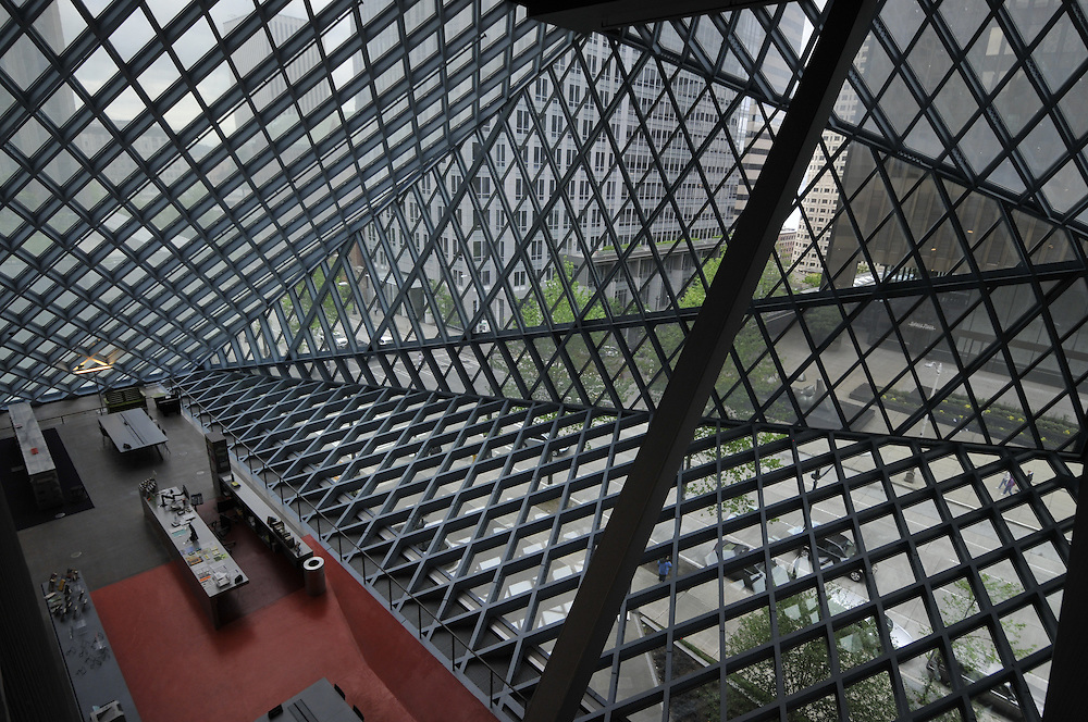 Seattle Central Library, Principal Architects: Rem Koolhaas and Joshua Prince-Ramus of OMA/LMN, Seattle, Washington, USA