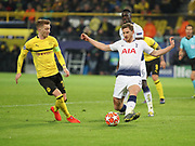 Jan Vertonghen of Tottenham Hotspur against Marco Reus of Dortmund during the Champions League round of 16, leg 2 of 2 match between Borussia Dortmund and Tottenham Hotspur at Signal Iduna Park, Dortmund, Germany on 5 March 2019.