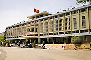 09 MARCH 2006 - HO CHI MINH CITY, VIETNAM: Reunification Hall in Ho Chi Minh City was called the Presidential Palace during the Vietnam War in Saigon. The complex, which was the heart of the South Vietnamese government, is now called Reunification Hall and is preserved as a museum in the center of Ho Chi Minh City. Photo by Jack Kurtz