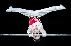 England's Nile Wilson wins gold during the Men's Horizontal Bar at the Coomera Indoor Sports Centre during day five of the 2018 Commonwealth Games in the Gold Coast, Australia.