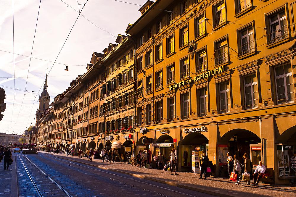Street scene, Spitalgasse, Bern, Canton Bern, Switzerland