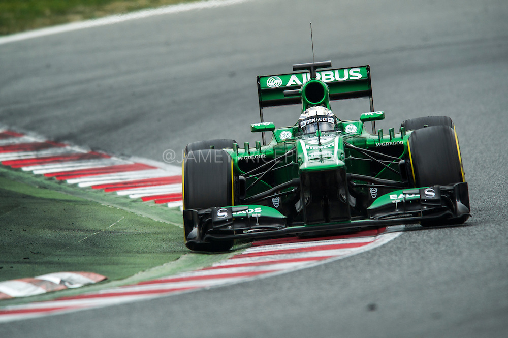 February 21, 2013 - Barcelona Spain. Giedo van der Garde, Caterham F1 Team during pre-season testing from Circuit de Catalunya.
