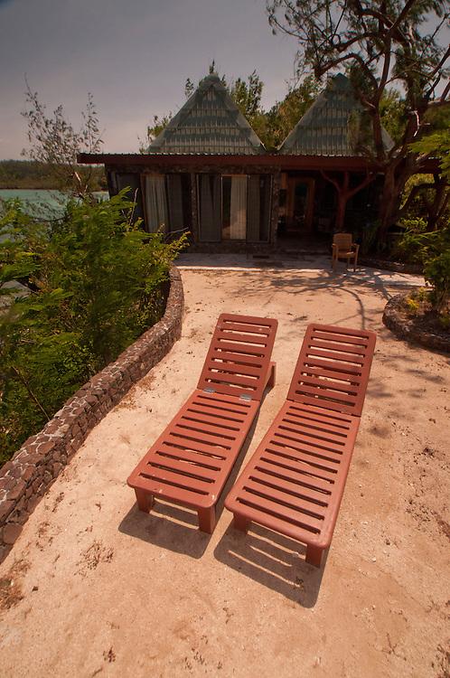 Chaise Loungesamd Bure at Vonu Point, Turtle Island, Yasawa Islands, Fiji