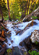 A waterfall in the Wheeler Peak Wilderness near Taos, New Mexico