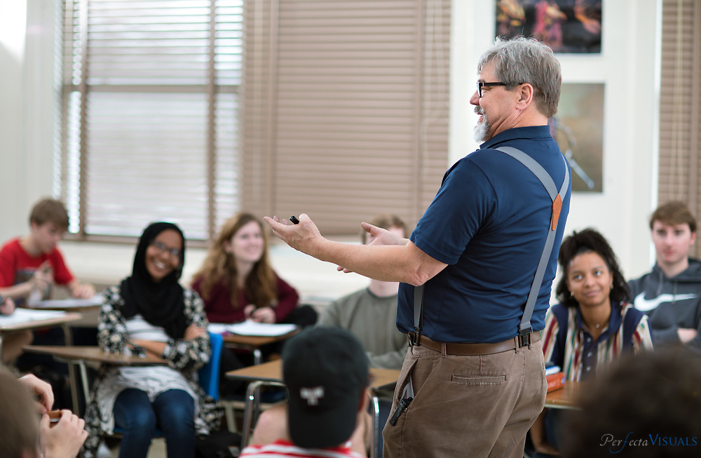 Grimsley High School class.<br /> <br /> Photographed, Thursday, February 15, 2018, in Greensboro, N.C. JERRY WOLFORD and SCOTT MUTHERSBAUGH / Perfecta Visuals