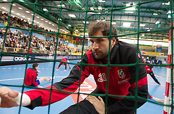 Joan Canellas of Madrid prior to the 1st Leg handball match between RK Cimos Koper and BM Atletico Madrid (ESP) in Quarterfinals of EHF Champions League 2011/2012, on April 21, 2012 in Arena Bonifika, Koper, Slovenia. (Photo by Vid Ponikvar / Sportida.com)