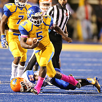 Tupelo running back Jaquerriuos Williams rushed for three touchdowns in the first half against Southaven Friday night.