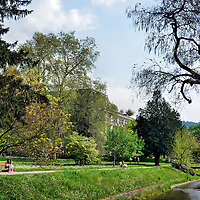 Lichtentaler Allee and River Oos in Baden-Baden, Germany <br />