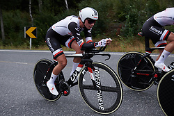 Liane Lippert (GER) at Ladies Tour of Norway 2018 Team Time Trial, a 24 km team time trial from Aremark to Halden, Norway on August 16, 2018. Photo by Sean Robinson/velofocus.com