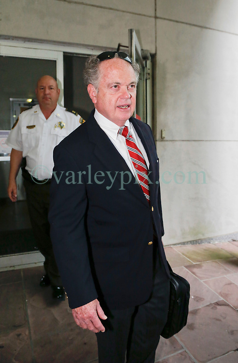 12 June  2015. New Orleans, Louisiana. <br /> Paul Cordes, trust attorney for Tom Benson, billionaire owner of the NFL New Orleans Saints, the NBA New Orleans Pelicans, various auto dealerships, banks, property assets and a slew of business interests leaves the New Orleans Civil District Court after attending a hearing to determine Benson's level of competency to manage his business empire. Benson changed his succession plans and  decided to leave the bulk of his estate to third wife Gayle, sparking a controversial fight over control of the Benson business empire.<br /> Photo©; Charlie Varley/varleypix.com