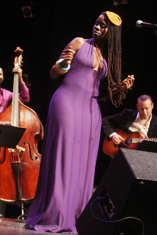 Somi at The Women's Jazz Series held at The New York Public Library Schomburg Center for Research in Black Culture on March 23, 2010 in Harlem, New York City.