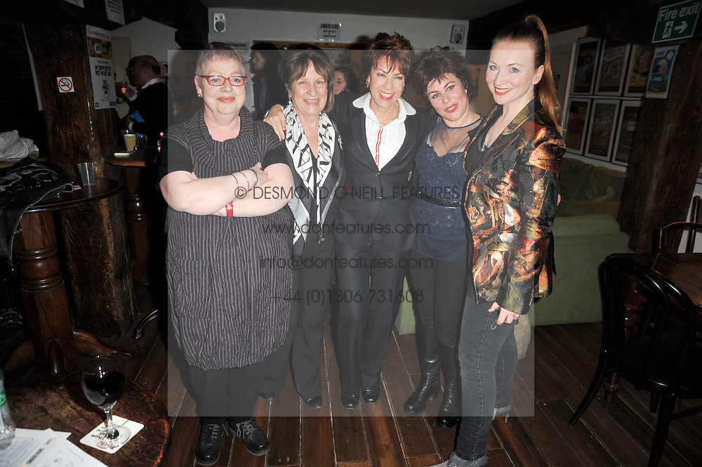Left to right, JO BRAND, BARONESS HELENA KENNEDY, KATHY LETTE, RUBY WAX and JUDITH OWEN at the gala night party of Losing It staring Ruby Wax held at he Menier Chocolate Factory, 51-53 Southwark Street, London SE1 on 23rd February 2011.