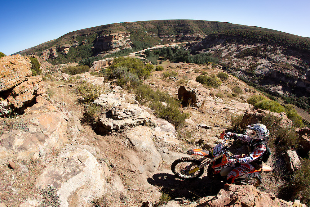 during the 44th running of the Roof of Africa enduro held in Lesotho.
