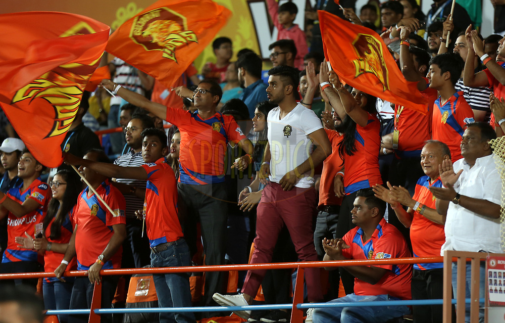 Keshav Bansal owner of Gujatar Lions during match 20 of the Vivo 2017 Indian Premier League between the Gujarat Lions and the Royal Challengers Bangalore  held at the Saurashtra Cricket Association Stadium in Rajkot, India on the 18th April 2017<br /> <br /> Photo by Sandeep Shetty - Sportzpics - IPL