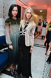 Left to right, LEIGH LEZARK and LADY MARY CHARTERIS at a dinner to celebrate the exclusive Capsule collection: Maison Michel by Karl Lagerfeld held at Selfridges, 400 Oxford Street, London on 23rd February 2015.