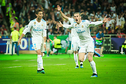 Gareth Bale of Real Madrid  celebrates after he scored first goal during the UEFA Champions League final football match between Liverpool and Real Madrid at the Olympic Stadium in Kiev, Ukraine on May 26, 2018.Photo by Sandi Fiser / Sportida