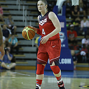 United States Guard Lindsay Whalen (4) dribbles the ball up court in the first half of a USA Women's National Team Exhibition game between Red and White Thursday, Sept. 11, 2014 at The Bob Carpenter Sports Convocation Center in Newark, DEL