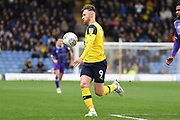 Oxford United forward (on loan from Bristol City) Matty Taylor (9) controls the ball during the EFL Sky Bet League 1 match between Oxford United and Shrewsbury Town at the Kassam Stadium, Oxford, England on 7 December 2019.
